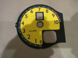 Ferrari 360 Yellow Tachometer Dial (NEW) P/N D360-Y-430