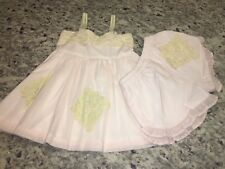 Nwts Well Dressed Wolf Pale Pink Embroidery Sleeveless Set Girls Size 5