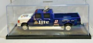 ACTION Nascar #2 Rusty Wallace Miller Lite Ford Dually Truck Bank 1:24 Scale