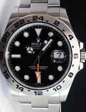 ROLEX - Mens 42mm Stainless Explorer II Black Index Dial - 216570 SANT BLANC