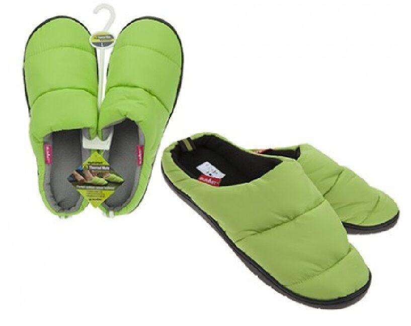 Summit Camping Unisex Slippers Medium Water Resistant Thermal Fleece Fleece Thermal Warm Verde e6a221