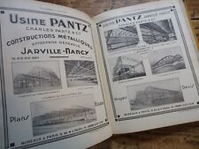 SUPERBE RARE CATALOGUE INGENIEUR 1931 USINES MACHINES OUTILS INDUSTRIE LONGWY