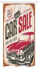 "Retro Stall Shower Curtain America Car Sale Sign Print for Bathroom 36""x72"""
