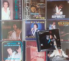 LOT DE 10 CDS  IMPORT ELVIS PRESLEY # 2- CONCERTS & STUDIOS - A NE PAS MANQUER !