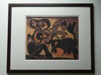 Pablo Picasso, Linolschnitt 1962, 52,5 cm x 42,5 cm mit Rahmen