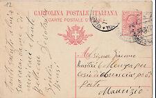 CARTOLINA POSTALE CENT.10 1917 DA PAVIA A PORTO MAURIZIO  C3-12
