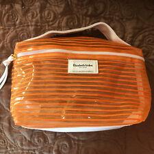 Elizabeth Arden New York Orange & White Mesh Cosmetic Bag (New)