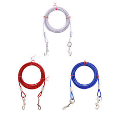 3/5M Durable Dog Tie-Out Cable Leash Steel Wire Metal Chain Pet Leash Extra Lead