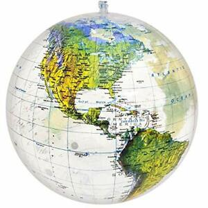 16 inch Globe of The World, Raised Relief Topographic Map with Political