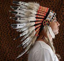 INDIAN HEADDRESS Chief War bonnet Costume Native American Halloween Headdresses