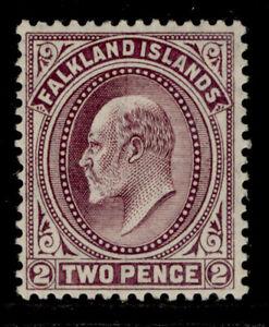 FALKLAND ISLANDS SG45, 2d purple, VLH MINT. Cat £25.