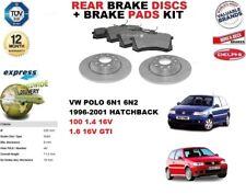 für VW Polo 1.4 1.6 16V GTI BREMSSCHEIBEN SET HINTEN+Bremsbelagsatz
