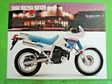 1990 Honda NX 250 NX 125 NOS OEM DEALER'S Sales Hoja Folleto #5