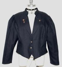 BLACK ~ COTTON & LINEN German Short Riding SUMMER Dress JACKET Over Coat 46 14 L