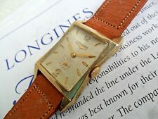 Vintage 1953 Men's Longines 17 Jewel 10k Gold Filled FLARED Swiss Watch Runs