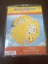 Emoji Inflatable Beach Ball (13 inches)- New