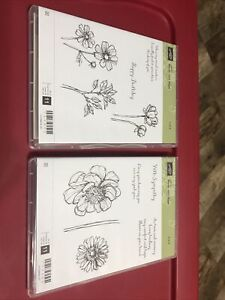 Stampin' Up Bloom With Hope 1&2, Set of 11 Stamps Total, Unmounted, Barely Used