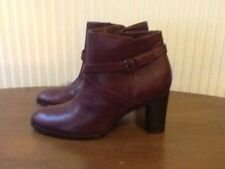 Jigsaw Women's Boots Size 7uk 100% Leather / Maroon Colour