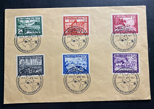 1941 Munich Germany Cover Stamp Set Sc#B158A Red Cross Special Cancel