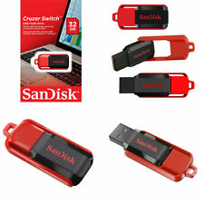 SANDISK 32GB CRUZER SWITCH USB 2.0 PEN FLASH DRIVE MEMORY STICK pollice Smart Key