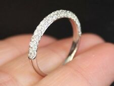 Brand New Sz8 14K 3/4ct Diamond Half Eternity Dome Ring Wedding Band White Gold