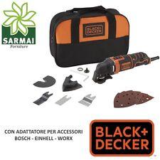 Black+Decker Utensile Multifunzione 300W taglio levigatrice + Accessori e Borsa