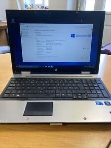HP ELITEBOOK 8540P CORE i5 M540 2.53GHz NVIDIA NVS5100M 4GB RAM 320GB HDD WIN 10