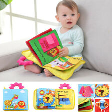12 Pages Educational Baby Toys Cartoon Infant Kids Early Development Cloth Books