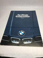 1978 BMW FULL LINE SALES BROCHURE, ORIGINAL ITEM, 320i, 528i, 733i, 633CSi