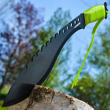 "17"" TACTICAL SURVIVAL Fixed Blade ZOMBIE MACHETE Hunting Sword Kukri Knife"
