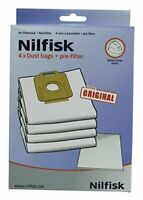 Nilfisk - 1470416500 - Power Series Dust Bags and Filter Pack - Pack of 4