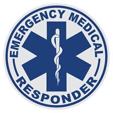 "2"" x 2"" Set of 4 EMT Star of Life First Responder Paramedic Vinyl Decal Sticker"