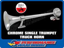 CHROME SINGLE ROUND TRUMPET AIR HORN TRUCK TRAIN HORN 640mm LONG 12V/24V BIG RIG