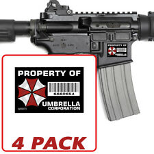 AR-15: UMBRELLA Corp 4 PACK Stickers - Property Vinyl Decal lower 5.56 AR0073
