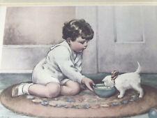 Kittys Breakfast Bessie Pease Gutmann Print Litho Lithograph Vintage Baby Art