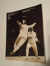 Vintage Montreal 1976 Olympic Game Fencing / escrime Program