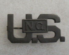 """WWI OFFICER """"US NG"""" IN BOX CENTERED FULL SIZE BZI OPEN PIN BACK"""