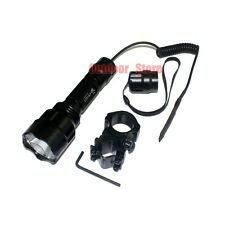 Ultrafire C8 Tactical CREE XM-L L2 LED 5Mode 1200Lumens Flashlight +  Mount Set