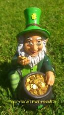NEW DESIGN LATEX MOULD MOLD MOULDS TO MAKE CEMENT GARDEN LEPRECHAUN POT OF GOLD