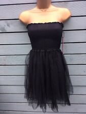 Abbey Dawn Size S (8) Scene Stealers Tulle Strapless Lace Up Black Mini Dress