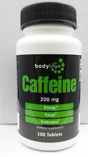 BODYLOGIX CAFFEINE PILLS*200mg*100 TABLETS*NEW-SEALED     FREE SHIP