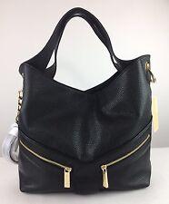 $368 MICHAEL KORS Jamesport Large Shoulder Tote Black Leather Hobo Bag