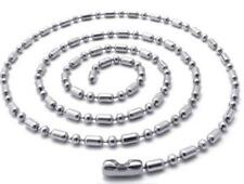 12 pieces bulk lot DELUXE STAINLESS STEEL 24 IN BALL CHAIN NECKLACE silver NEW