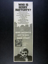 1978 Gerry Rafferty City to City album promo vintage print Ad