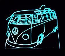 VW KOMBI 60's CLASSIC LED - RGB & REMOTE LARGE BAR ROOM NIGHT TABLE LIGHT LAMP