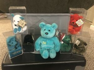 Ken Griffey, Jr. Salvino Plush Bear X7 Lot Millennium /2000 Big Holiday w/ Cases