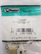 CJRWWH RCA Punchdown Module PANDUIT Mini-Com White With White Insert