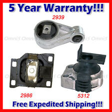K169 Fits 2005-2007 FORD FOCUS 2.0L Engine & Trans Mount Set 3PCS for AUTO TRANS