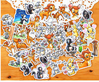 PACK DE 40 PCS AUTOCOLLANTS STICKERS DISNEY BAMBI PANPAN DECORATION