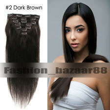 Real Cheap Price Clip In 100% Remy Human Hair Extensions Soft Full Head 22Colors
